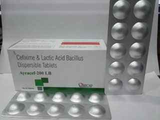 Cefixime & lactic acid bacillus dispersible tab. is available at best price