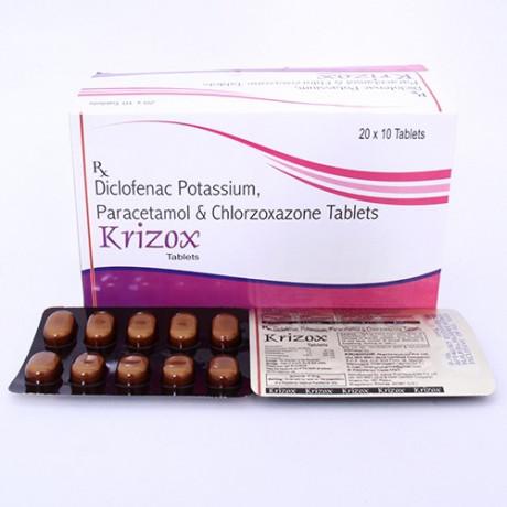 Diclofenac Potassium Paracetamol and Chlorzoxazone Tablets 1