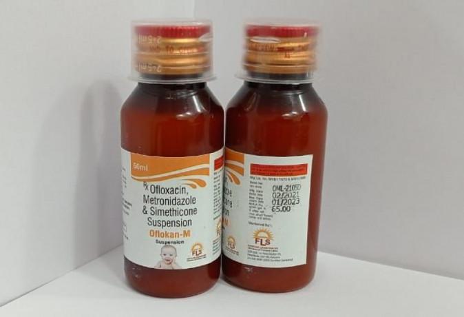 Ofloxacin 50mg + metronidazole 100 mg syrup 1