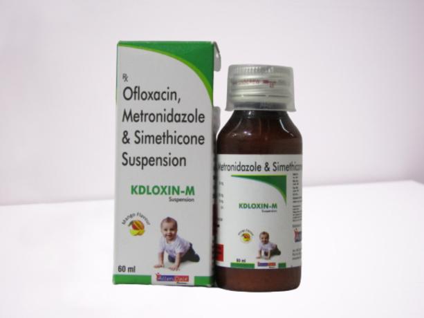 OFLOXACIN 50MG + METRONIDAZOLE 120MG + SIMITHICONE 10MG 1