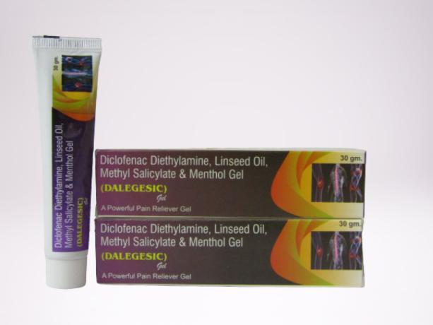 DICLOFENAC DIETHYLAMINE + LINSEED OIL 3% + METHYL SALCILATE 10% IN GEL BASE 1
