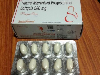 Natural Micronized Progestrone Softgels 200mg.