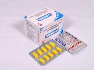 Aceclofenac (100mg) + Paracetamol/Acetaminophen (325mg) + Trypsin Chymotrypsin (50000IU)