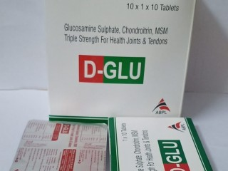 D-GLU (glucosamine sulphate and chondroitin, Triple Strenght For Health Joints & Tendons)