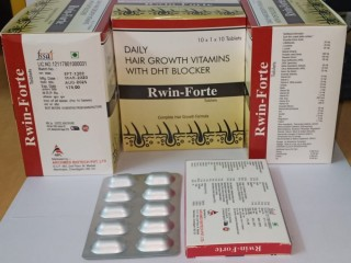 RWIN-FORTE TAB. (DAILY HAIR GROWTH VITAMINS WITH DHT BLOCKER)