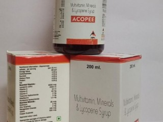 ACOPEE (MULTIVITAMIN & MINERALS & LYCOPENE SYRUP)
