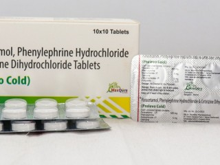 PARACETAMOL IP 500 MG+PHYENYLEPHRINE HYDROCHLOIDE IP 5 MG+CITIRIZINE DIHYDROCHLORIDE IP 5 MG