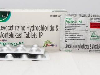 LEVOCETIRIZINE HYDROCHLORIDE 5 MG + MONTELUKAST SODIUM 10 MG TABLET