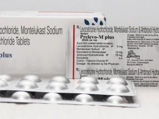 LEVOCETIRIZINE HYDROCHLORIDE IP 5 MG +MONTELUKAST SODIUM IP 10 MG +AMBROXOL HYDROCHLORIDE IP 75 MG TABLETS