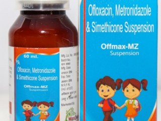 Ofloxacin IP 50Mg+Metronidazole Benzoate IP Eq To Metronidazole 120 Mg+Simethicone IP 10 Mg Suspension