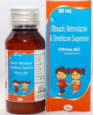 Ofloxacin IP 50Mg+Metronidazole Benzoate IP Eq To Metronidazole 120 Mg+Simethicone IP 10 Mg Suspension 1