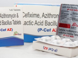 Cefixime IP 200 Mg + Azithromycin(Dihydrate) IP Eq To Azithromycin 250 Mg+ Lactic Acid Bacillus 60 Million Spores