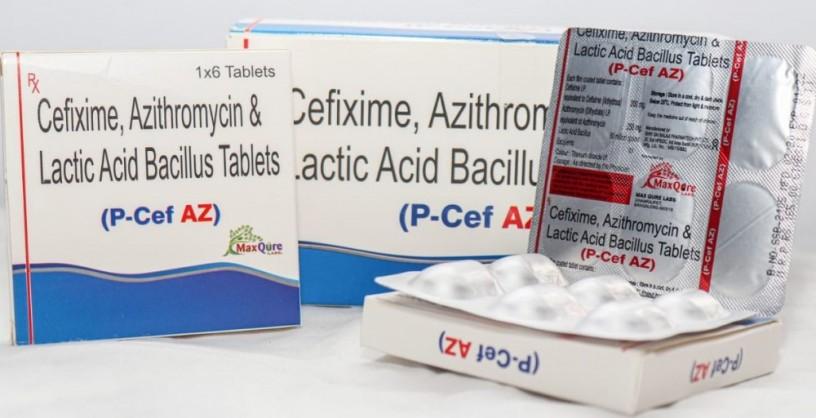 Cefixime IP 200 Mg + Azithromycin(Dihydrate) IP Eq To Azithromycin 250 Mg+ Lactic Acid Bacillus 60 Million Spores 1