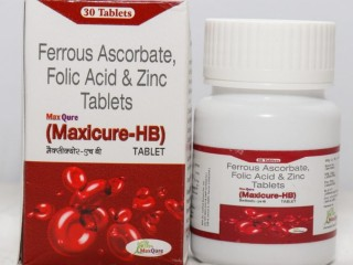 Ferrous Ascorbate 100 Mg (AS Elemental Iron)+Folic Acid 1.5 Mg + Zinc Sulphate Monohydrate IP 22.5 Mg Tablets