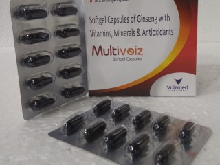 Ginseng+Antioxident+Minerals+Multivitamins Soft Gel Capsules