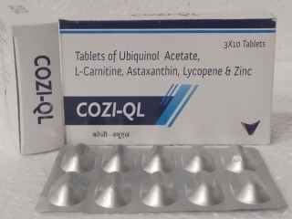 Ubiquinol Acetate (Reduced COQ10)+L-Carnitine 1000mg+Astaxanthin 16mg+Lycopene 2.5mg+zinc12.5mg ANTIOXIDANT