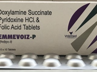 Doxylamine Succinate 10 mg + Pyridoxine Hydrochloride 10 mg + Folic Acid 2.5 mg