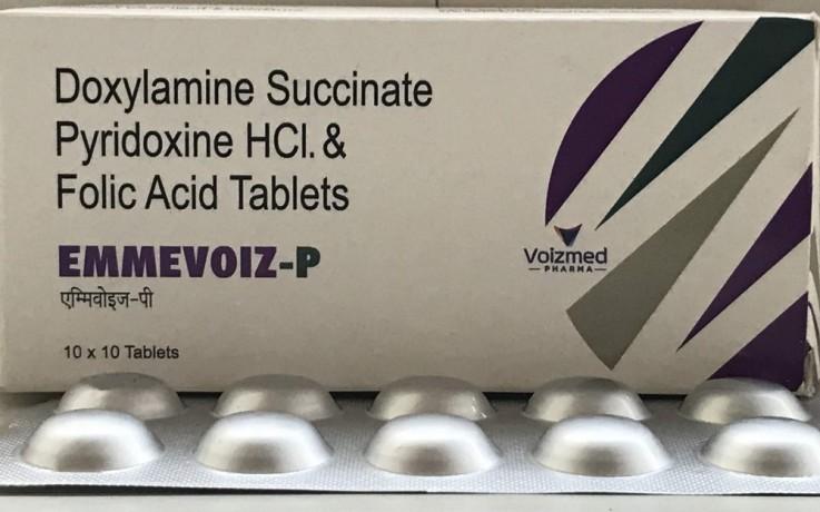 Doxylamine Succinate 10 mg + Pyridoxine Hydrochloride 10 mg + Folic Acid 2.5 mg 1