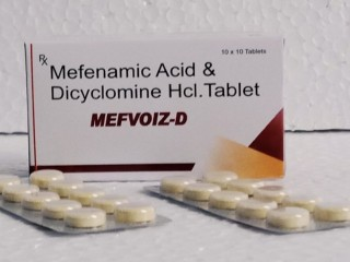 Dicyclomine HCl 20mg + Mefenamic acid 250 m