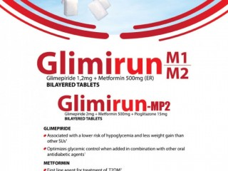 GLIMIPRIDE 2 MG+METFORMIN 500 MG +PIOGLITAZONE 15 MG (ER) BILAYERED TABLET