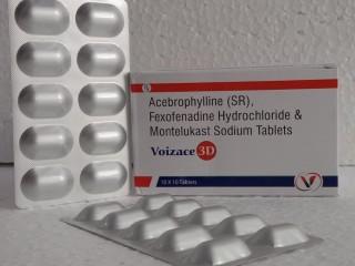 Acebrophyllin 200 mg+Fexofenadine 120 mg+Montelukast 10mg