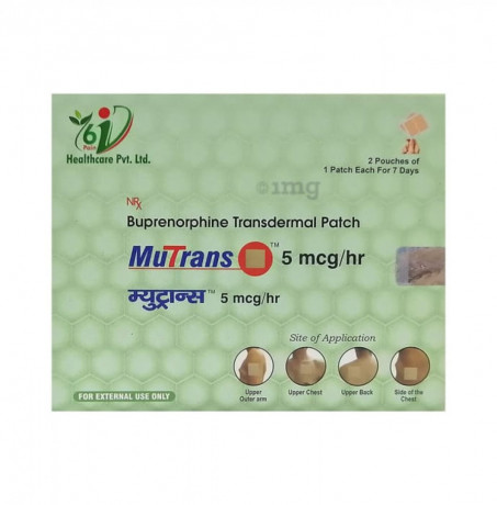MuTrans 5 mcg / hr ( Buprenorphine Transdermal Patch ) 1
