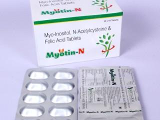 Myo-Inositol 1000 mg + N-Acytialcysteine 300 mg + Folic Acid 1.5 mg