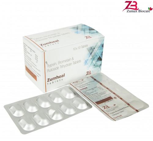 Trypsin 48 mg Bromelain 90 mg Rutoside Trihydrate 100 mg 1