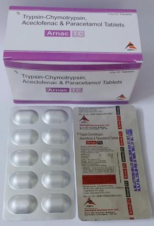 Trypsin chymotrypsin Aceclofenac Paracetamol at best price 1