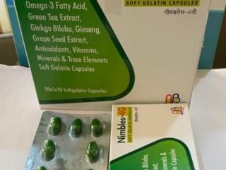 Omega-3 Fatty Acid+Green Tea Extract+Ginkgo Biloba+GinsengGrapSeed Extract+Antioxidants+Vitamins+Minerals+Trace Elements