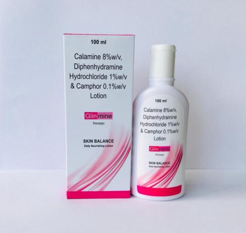 Calamine 8% + Diphenhydramine 1% + Camphor 0.1% Lotion 1